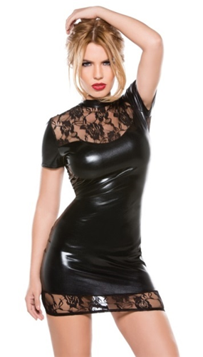 LADYMOR Latex Mini Elbise